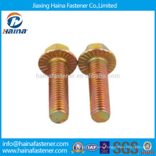 Color Zinc Plated Serrated Hex Flange Bolt