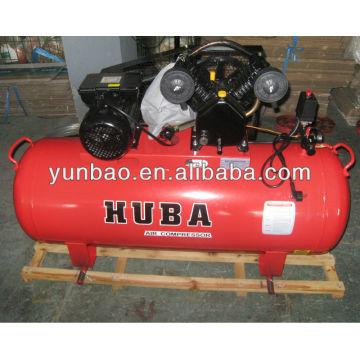3hp monofásico compresor de aire de pistón de potencia de CA V compresores accionados por correa 8 bar