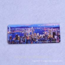 2016 personnalisé bon marché bon qualité qualité qualité Hongkong papier de souvenir touristique aimants et aimants réfrigérateur réfrigérateur