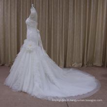 Robe de mariage de tulle de conceptions d'usine professionnelle sexy