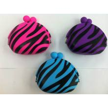 Animal Print Silicone Coin Purse 3.5 inches