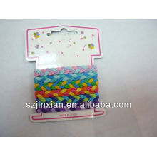 5mm colorful braided elastic cord