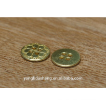 El metal redondo de la aleación mezclada-antigua jadea el botón de Jean