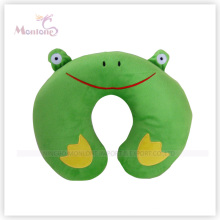 Coussin de coussin de cou de forme de dessin animé de grenouille