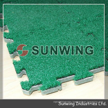 Removable artificial interlocking grass floor tiles