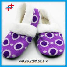 Frauen Hausschuhe Schuhe Designs für Baumwolle Einlegesohle Großhandel Günstige Hausschuhe