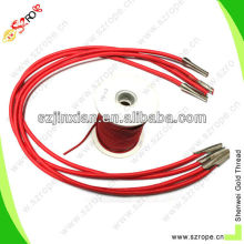 Handling Round Elastic Cord with metal end