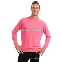 modelos de tejer de pullover de estilo alemán en cashmere rosa para hombre