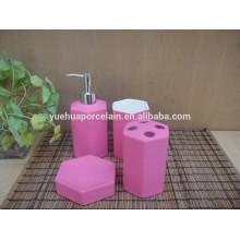 Moda accesorio de baño de cerámica para jabón cepillo de dientes Tumbler Loción