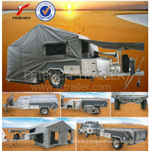 Simple hard floor camper trailer HFC05 car trailer China