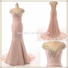 2017 robe de soirée formelle de bal Robe de soirée sans manche en mousseline de soie et mousseline de soie sans manches ZS15-07