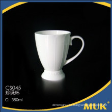 chaozhou factory wholesale hotel pure white fine style ceramic mug