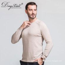 Venta caliente Oem Servicio de Estilo de Negocios Planas Kinitted Pullover 100% suéter de cachemira para hombres