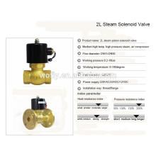 1/2 ~ 2 pulgadas de alta temperatura 220v / 24v válvula de latón de latón de vapor 1.6MPa