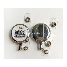 32mm Plastik Id Badge Holder Ditarik