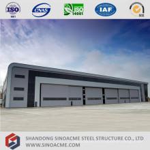Hangar de estructura de acero de gran extensión para el mantenimiento del avión