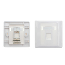 White single port network faceplate