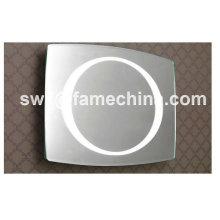 Simple y naturalista gabinete espejo de baño con luces CE