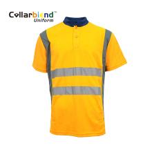 Polos réfléchissants de sécurité orange haute visibilité