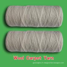 fil de laine de moquette, fil de laine sur cône