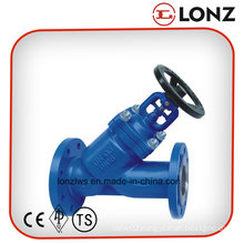 Cast Steel Wcb DIN Y Type Bellow Seal Globe Valve