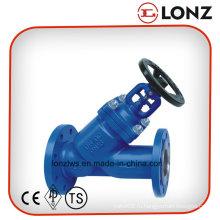 Литой стали Wcb DIN Y Тип Пылеуплотнительный шаровой кран