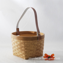 High Imitation Resin Bamboo-Woven Basket for Artificial Flower for Home Decoration or Hotel Decoration