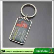 Porte-clés en métal blanc gravé au laser personnalisé