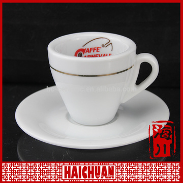 110ml golden rim ceramic coffee cup and saucer