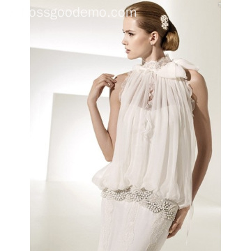 Elegant Rise Cathedral Train Lace Chiffon Dress Dress