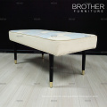 Living room furniture bedroom wooden legs fabric bed end stool