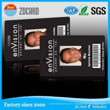 Carte d'identité d'étudiant de carte à puce en plastique / carte d'identité de photo