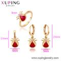 62564 Xuping nouvelle conception or enfants bijoux cuivre conception mignonne bébé trois pièces ensemble