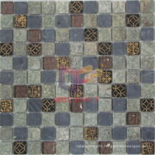 Quartz Stone Mix Glass Mosaic (CSR071)