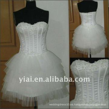 JJ2512 Vestido de boda corto atractivo del amor del envío de la gota