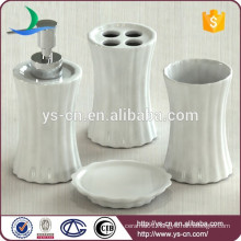 New bathroom set ceramic,white porcelain vertical stripe bath accessory
