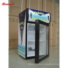 Pequeño LED Light Refrigerador portátil Beer Show Display Cooler Showcase con compresor y cerraduras
