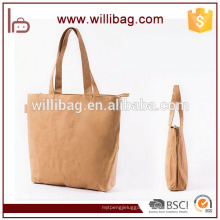 High Quality Washable Shopping Food Kraft Brown Paper Bag