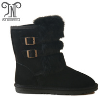 Hot-selling for Womens Suede Winter Boots Women winter fur lining ankle warm snow boots export to Sierra Leone Manufacturer