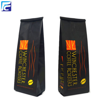 Customized bean foil 12oz coffee pouch with valve