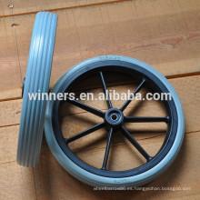 Rueda delantera de la silla de ruedas de la PU plástica sólida de 315X42m m