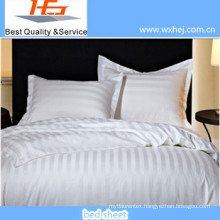 Stripe White Plain Polyester&Cotton Kind of Bed Sheets
