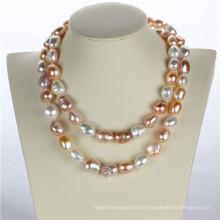 Snh 36inches lange Art- und Weiseperlen-Halskette für Frauen