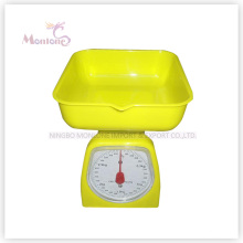 3kg Hot Sale Plastic Mechanical Kitchen Scale (12.5*12.5*16cm)