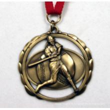 Médaille de plaqué or antique en 3D avec Multipal Découpées - Collier inclus / Vente en gros
