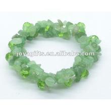 Зеленый Aventurine 2Line Фиолетовый браслет