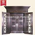 Maison Commerciale ou Résidentielle Porte en Bronze, Design Moderne Simple Porte battante en Cuivre Double Panneau