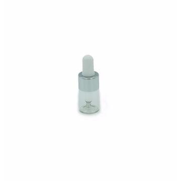 botella de aceite esencial del dropper de cristal transparente del diseño de encargo 5ml