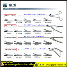 Reusable Laparoscopic Pistol Needle Holder with CE Certificate