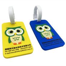 Custom 3D Soft Silicone Luggage Tag,OEM Rubber Bag Tag